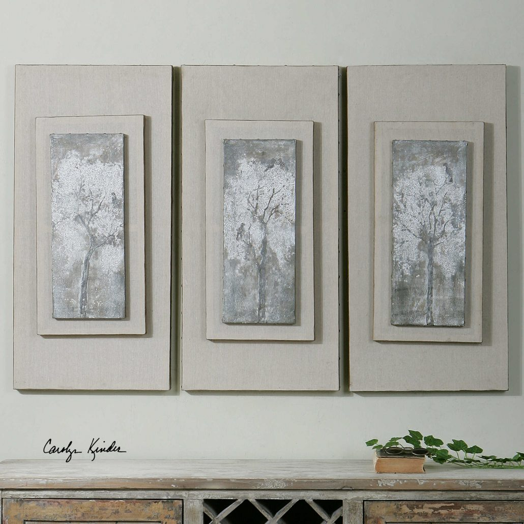 Triptych Trees Wall Art