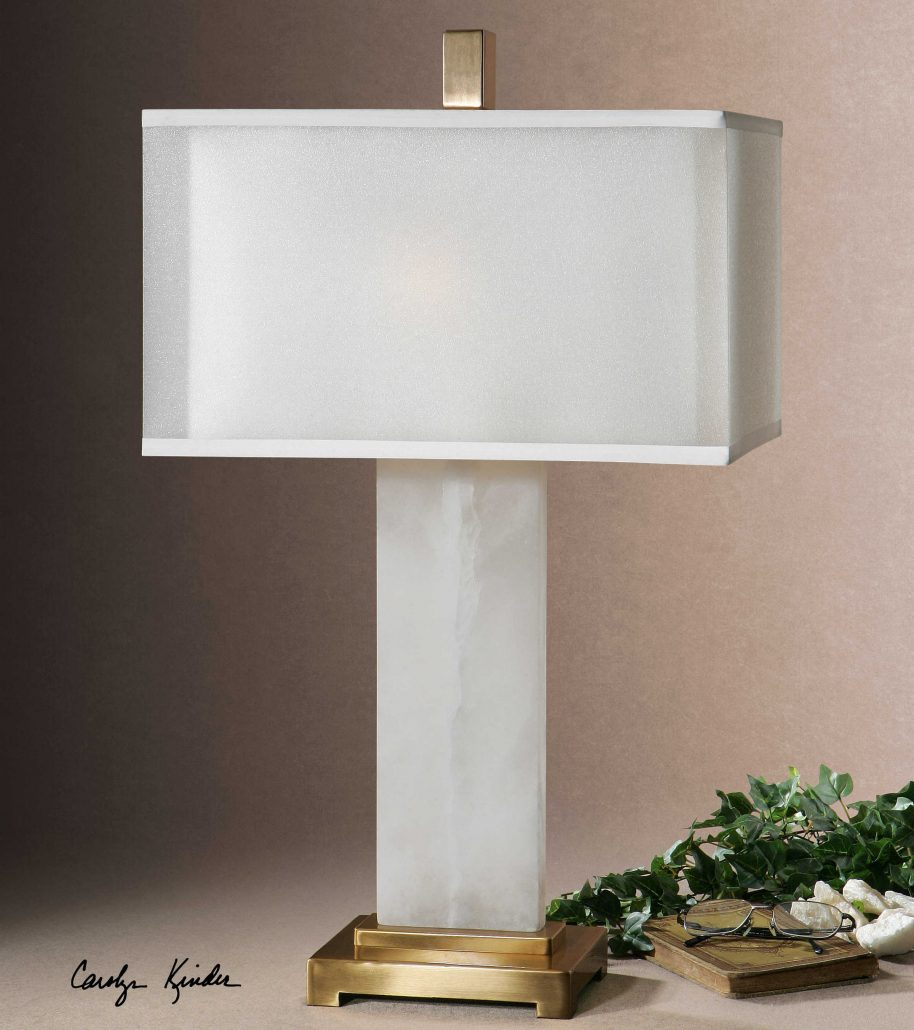 Athanas White Alabaster Lamp