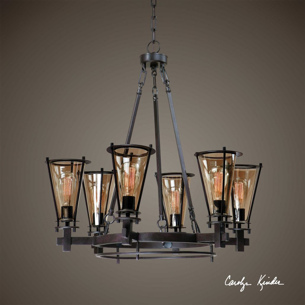 Frisco 6-Light Metal Chandelier