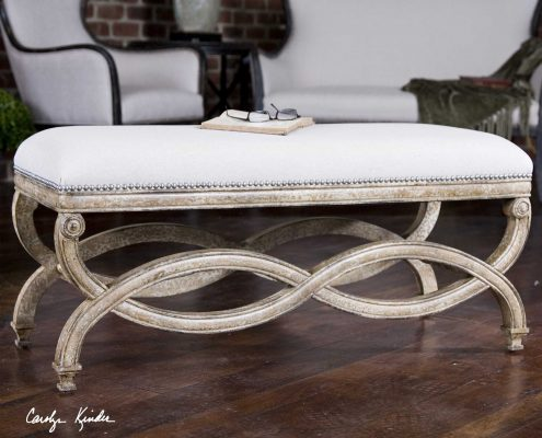 Karline Natural Linen Bench