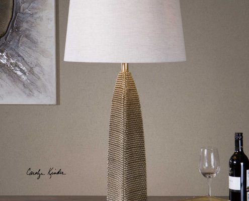 Kolva Silver Beaded Lamp