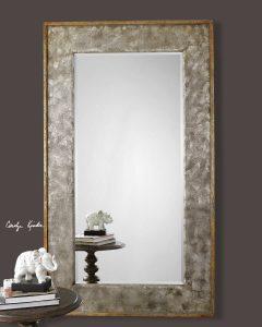Leron Distressed Bronze Mirror