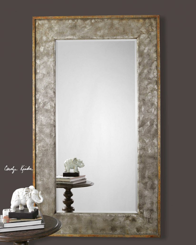 Leron Distressed Bronze Mirror