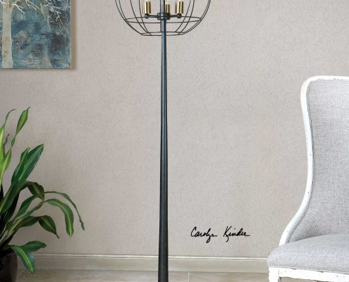 Palla Round Gage Floor Lamp