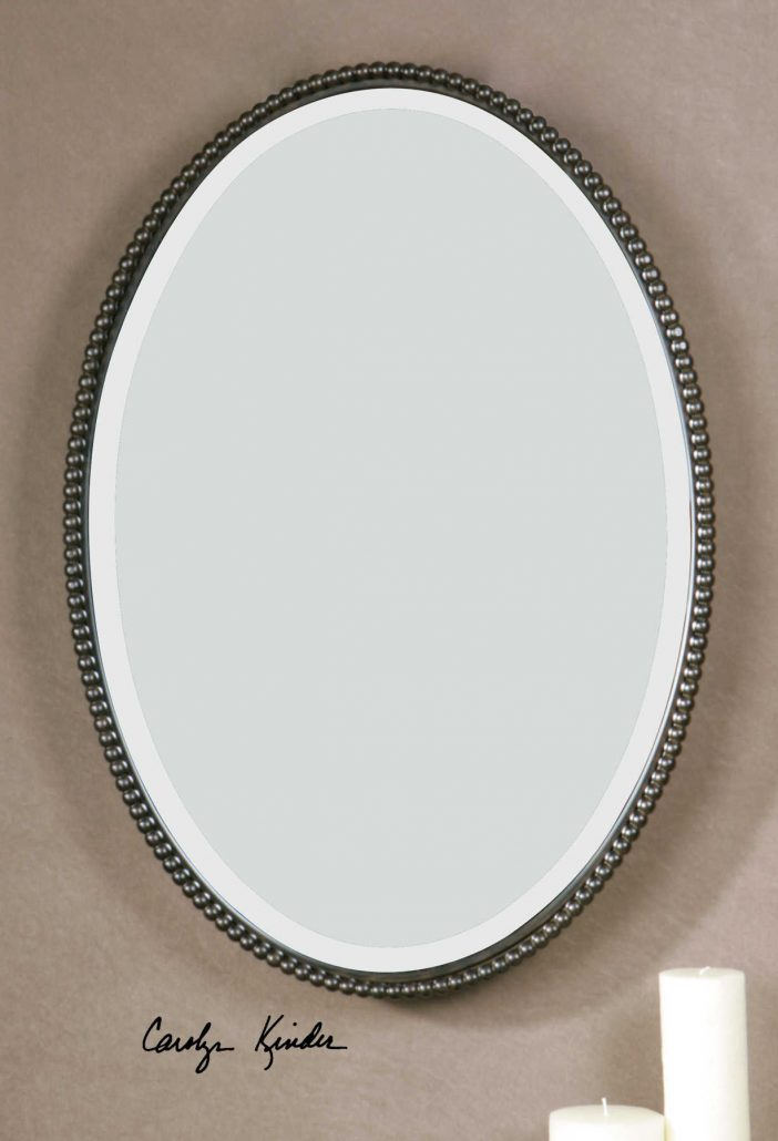 Sherise Bronze Oval Mirror
