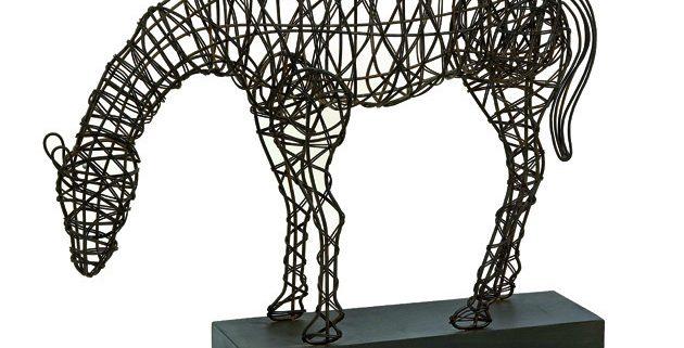 Anatole Woven Horse Statuary