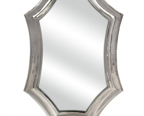 Curved Aluminum Wall Mirror