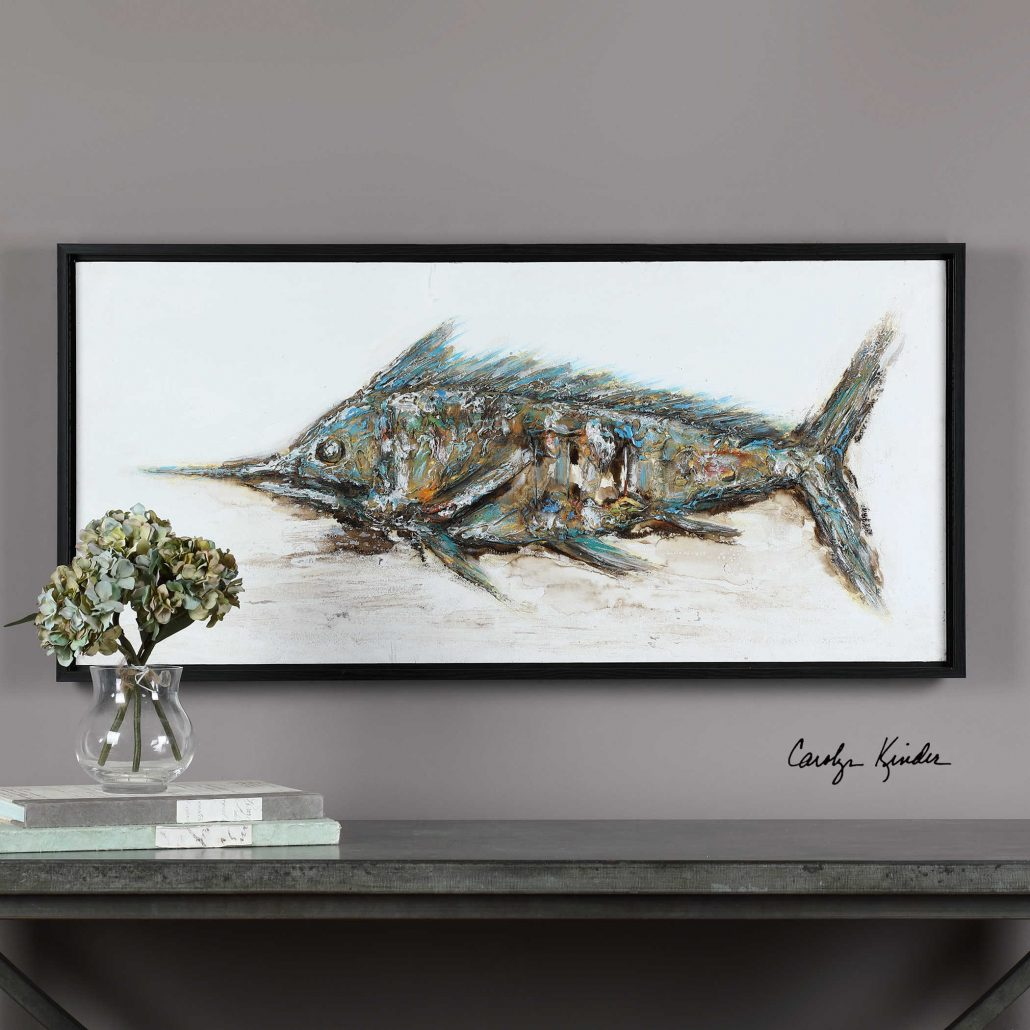 Blue Marlin Hand Painted Wall Art