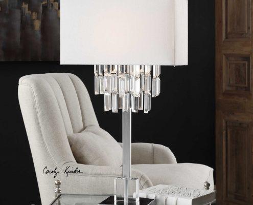 Resana Polished Nickel Lamp