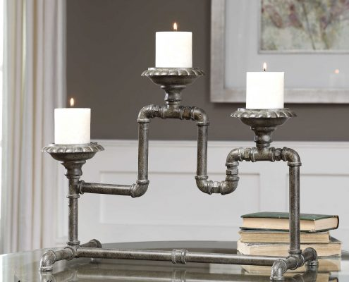 Bristow Industrial Candle Holder