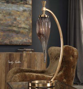 Fauna Art Glass Lamp