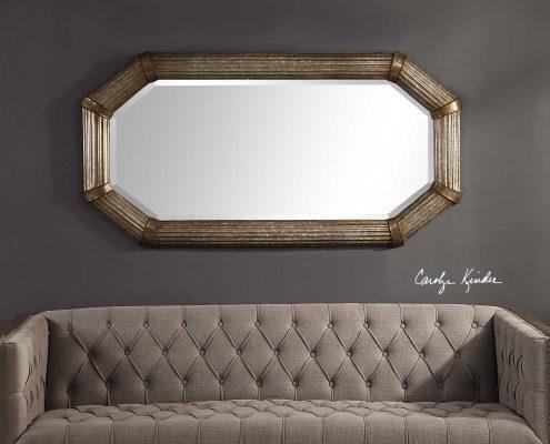 Gavin Rustic Modern Mirror