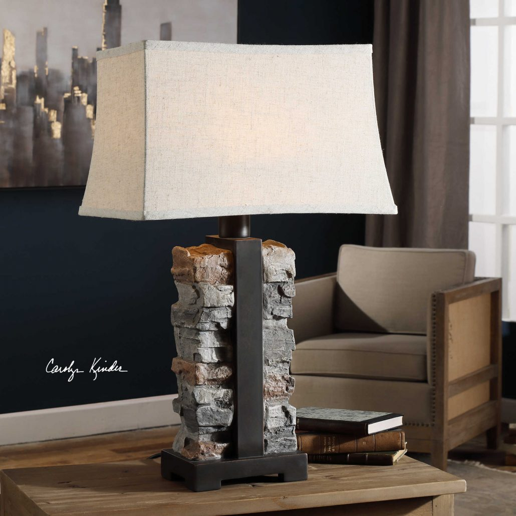 Kodiak Stacked Stone Lamp