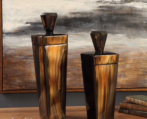 Lisa Rustic Steel Canisters