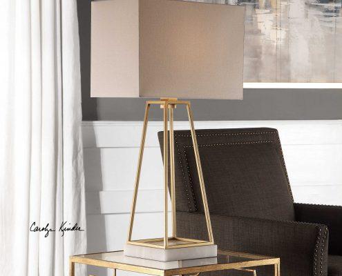 Mackean Modern Gold Lamp