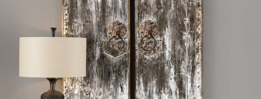 Giles Aged Wood Barn Door Art