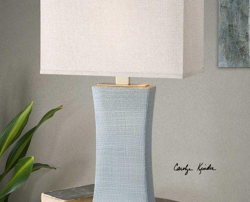 Cantarana Pale Blue Ceramic Lamp