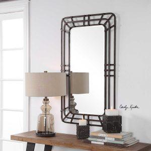 Alston Distressed Iron Mirror
