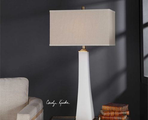 Darah Alabaster and Brass Table Lamp