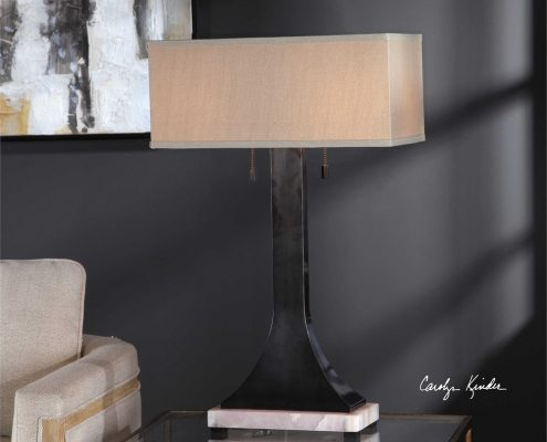 Eldric Bronze and Marble Table Lamp