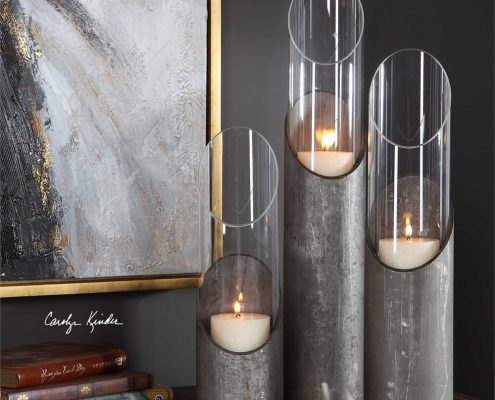 Karter Industrial Pipe Candle Holders