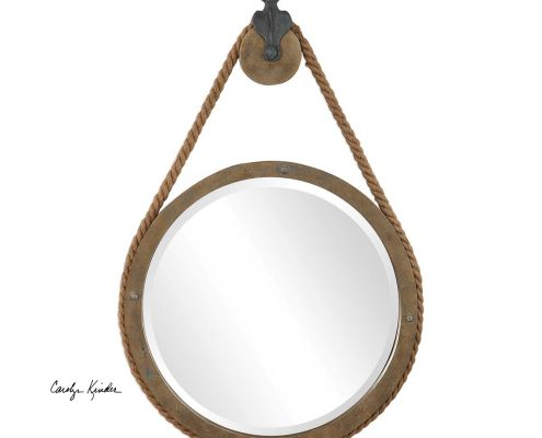 Melton Rustic Round Mirror