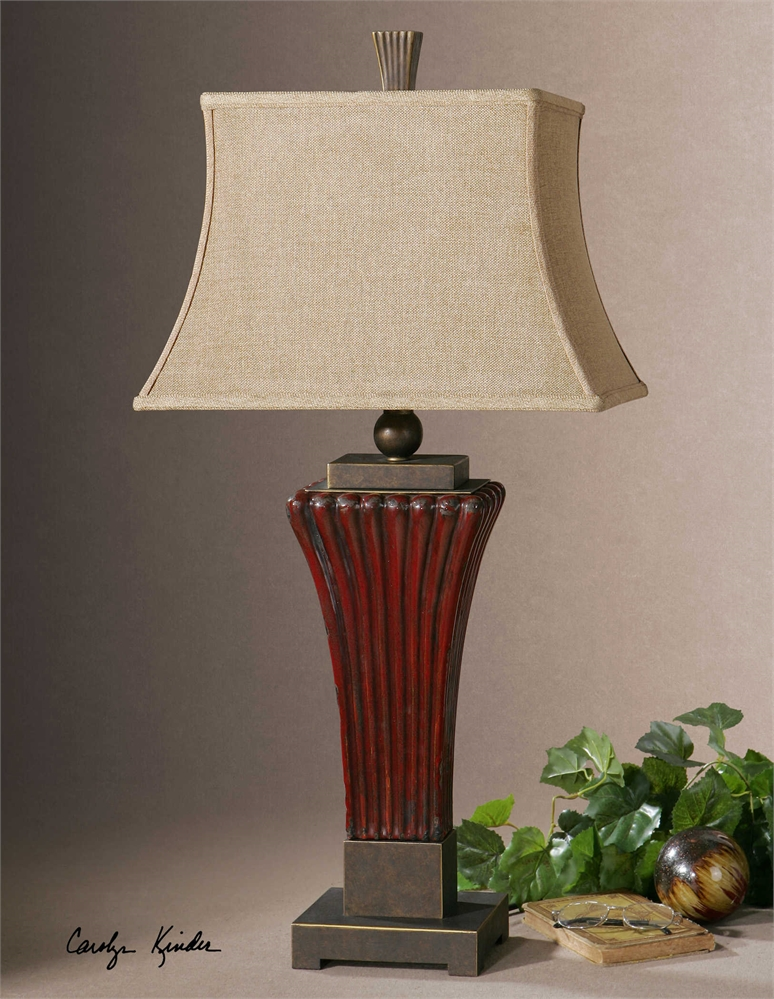 Rosso Dark Red Table Lamp
