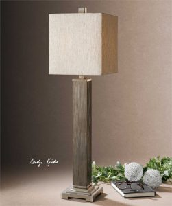 Sandberg Aged Grey Wood Buffet Lamp