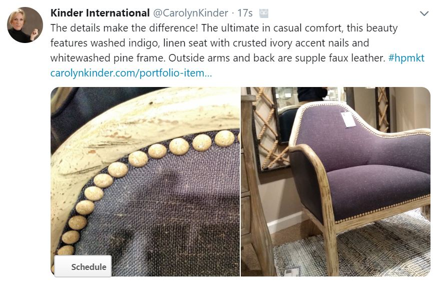 Dayla Accent Chair Details