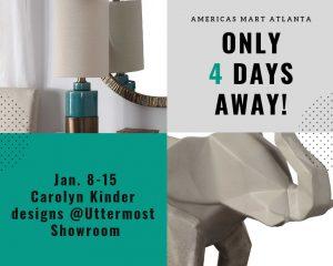 4 days til Atlanta Market