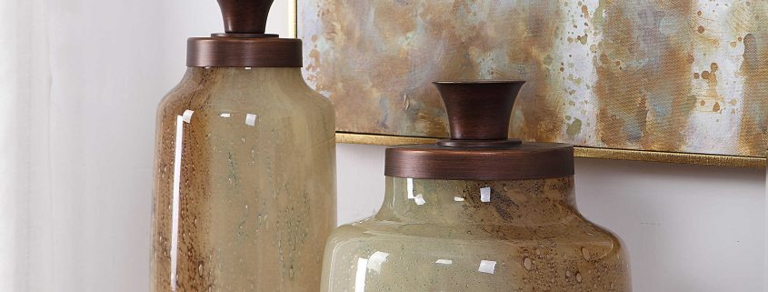 Elia Hand Blown Glass Containers by Carolyn Kinder International
