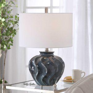 Aquilina Blue Ceramic Lamp