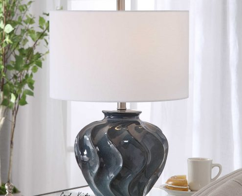 Aquilina Blue Ceramic Lamp