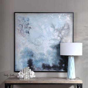 Seaside Storm Abstract Painting