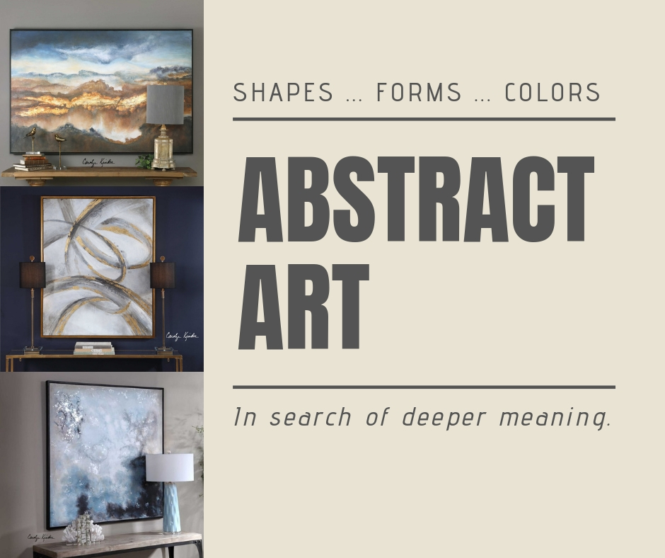 Abstract Art Leads Us To Contemplate As We Search For Deeper