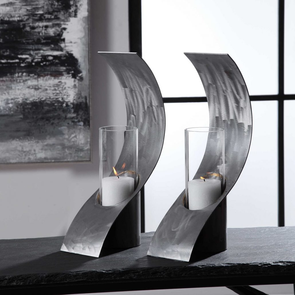 Swoop Modern Candle Holders Carolyn Kinder International
