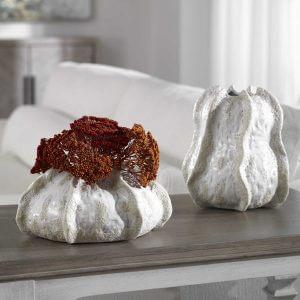 Urchin Coastal Vases by Carolyn Kinder for Uttermost.