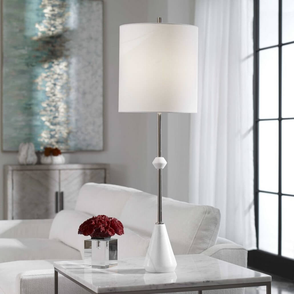Chantilly White Buffet Lamp