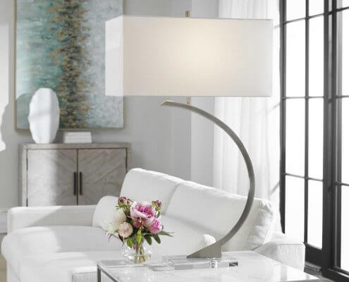 Arrow Steel Modern Table Lamp by Carolyn Kinder International