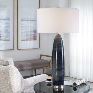 Cullen Blue-Gray Lamp by Carolyn Kinder International