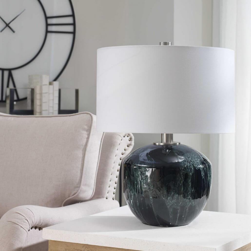 Highlands Emerald Green lamp by Carolyn Kinder International