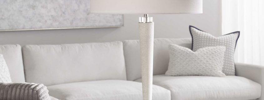 Kently White Marble Lamp
