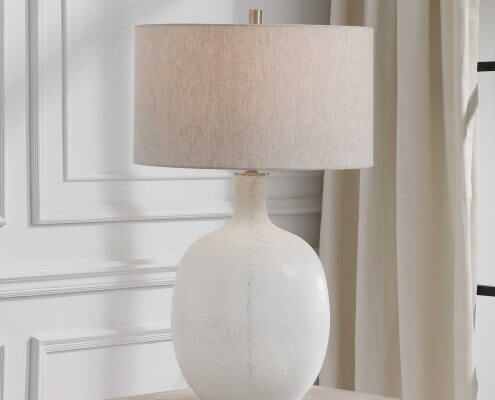 Whiteout Coastal Lamp by Carolyn Kinder