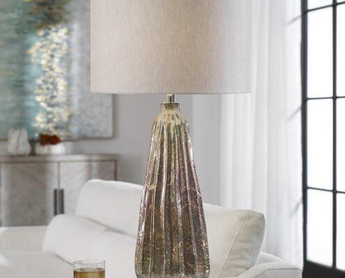 Mondrian Art Glass Lamp